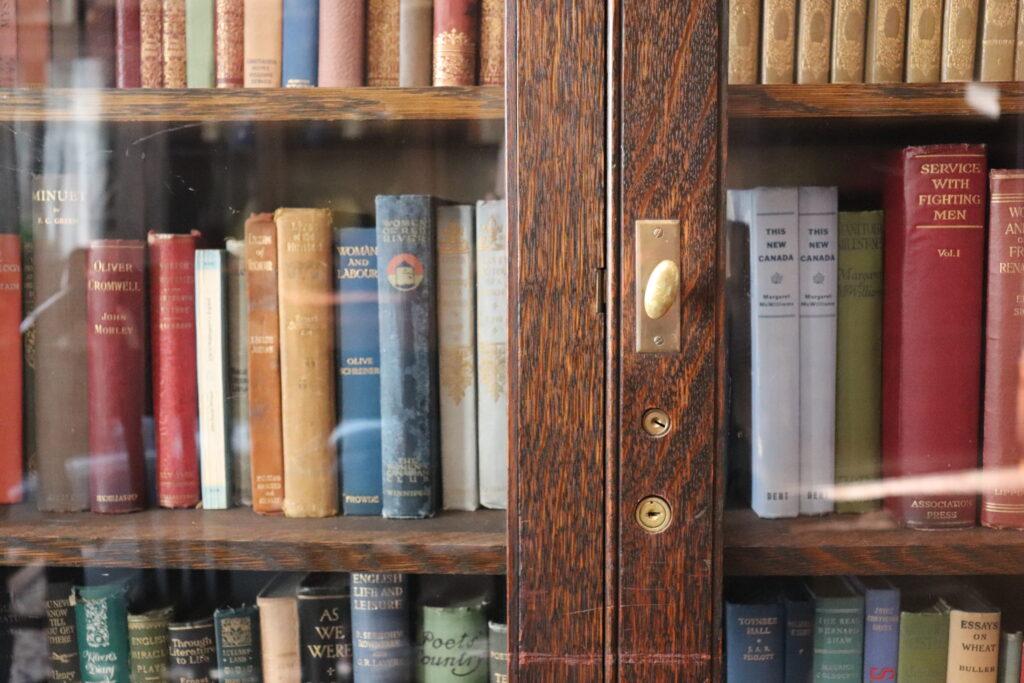 Bookcase full of books at University Women's Club Winnipeg