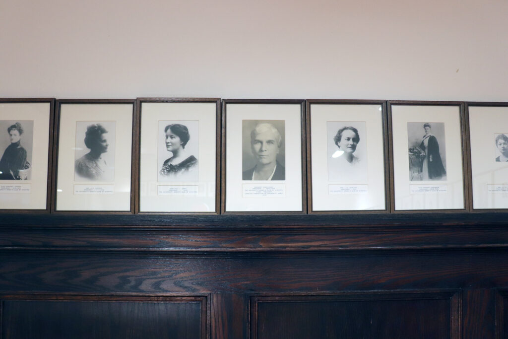 Portraits of University Women's Club past presidents
