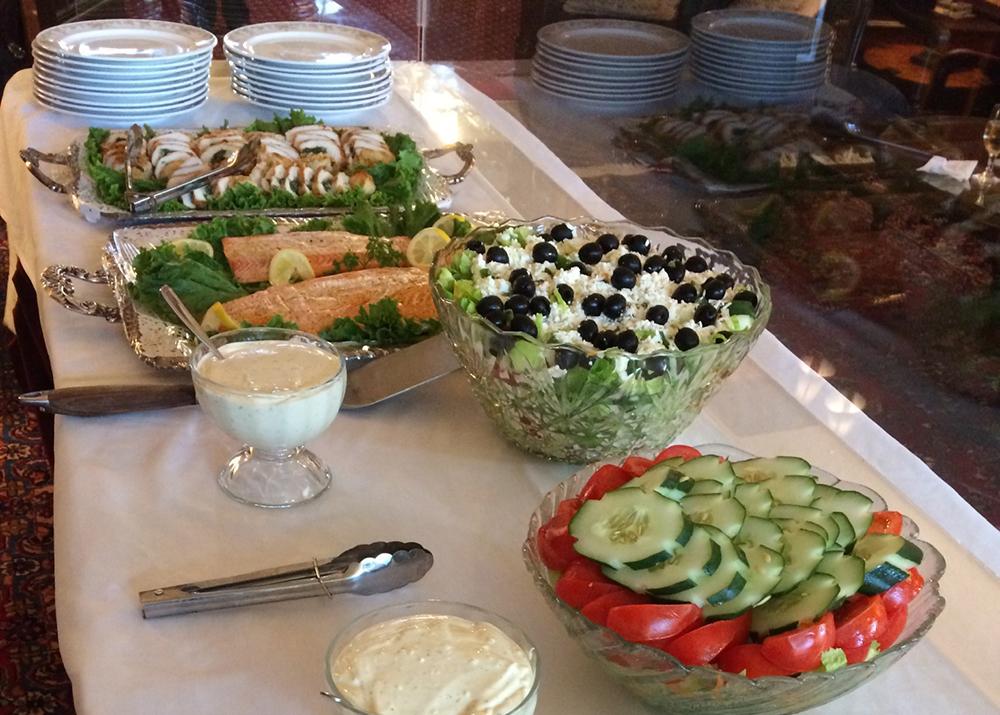 club food table UWC